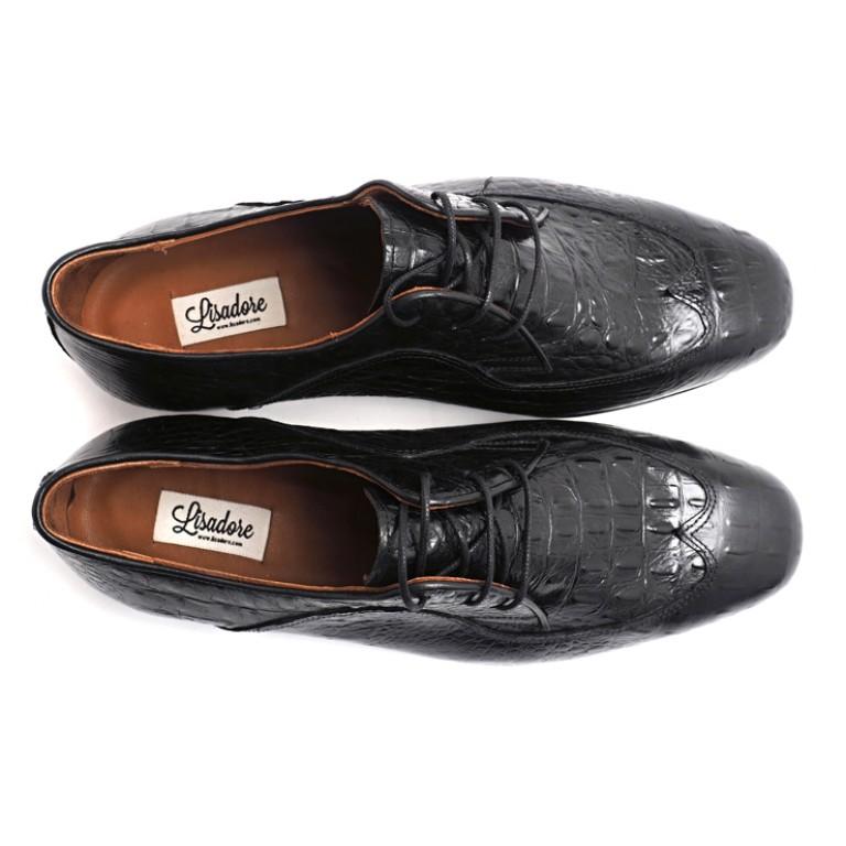 Lisadore Men Shoes - Negra Croco Padrone
