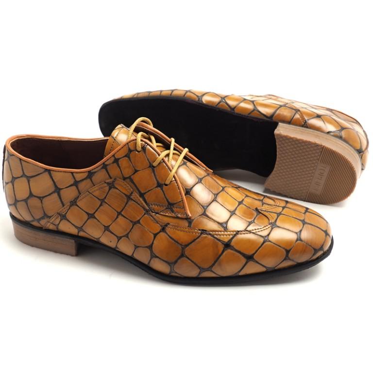 Lisadore Men Shoes - Ocra Reptil Padrone