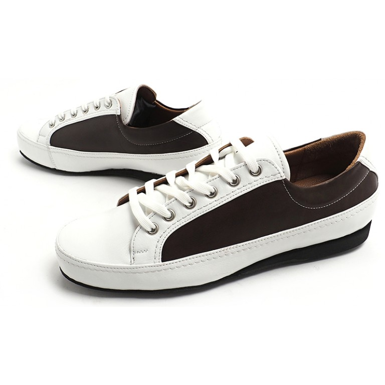 Lisadore Men Shoes - Sneaker Deep Brown White